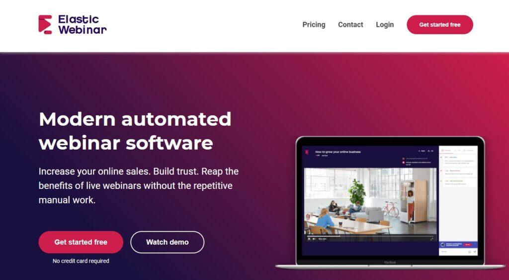 Piattaforme Webinar Gratuite Elastic Webinar