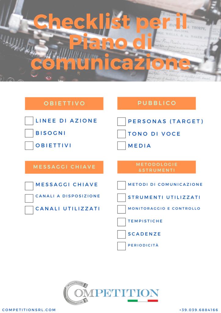 checklist piano di comunicazione